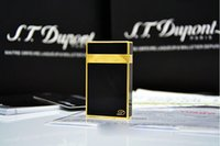 Metal painting light - 100 New ST memorial Dupont lighter Pure copper Gold black paint bright sound gas lighter