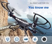 Wholesale pc camera toy online - Original JJRC H8C G RC Helicopter Axis GYRO Quadcopter Drone With MP Camera LED Remote Control Toys