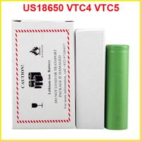 Wholesale E Cigarette Mod Batteries - US18650 VTC5 2600mAh VTC4 2100mAh 3.7V Li-ion battery for E cigarette Manhattan King Nemesis Stingray Mechanical mods