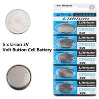 Wholesale Usa Cells - 5 x CR2032 DL2032 ECR2032 5004LC 3 Volt Button Cell Battery USA US Ship DropShipping