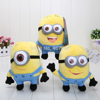 Wholesale Despicable 7inch - Wholesale-18pcs Lot (1set=3pcs )Despicable Me 2 7inch Despicable Me Minion Jorge Stewart Dave NWT with tags 3D eyes