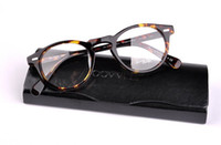 Wholesale titanium alloy eyeglasses frame - 2016 Men Brand Optical Glasses Frame Oliver Peoples OV5186 Gregory Peck Eyeglasses Women Myopia Eyewear Frame with Original Case