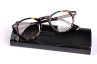 Wholesale printed eyewear resale online - 2016 Men Optical Glasses Frame OV5186 Gregory Peck Eyeglasses Women Myopia Eyewear Frame with Case