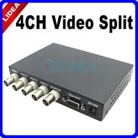 Wholesale Color Video Quad Splitter - 4CH Color Video Splitter Quad Processor for CCTV System CN B-19