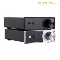 Wholesale Audio Amplifier Digital Input - SMSL A2 HiFi 2.0 Pure Digital Audio headphone Amplifier Input AUX RCA Active Subwoofer Output 40W+40W LED Display EQ Setting TDA7492 DV19V
