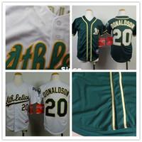 Wholesale Cheap Boys Athletic Shorts - 30 Teams- 20 Josh Donaldson jersey youth kids baseball jersey custom Oakland Athletics jerseys authentic cheap buy dirct from china S-XL