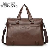 Wholesale Luxury Business Bags For Men - FEIDIKABOLO Luxury Brand Male Leather Bag Men Bags Men's Travel Bag Briefcase Crossbody Bags Business Handbags For Man Shoulderg