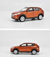 Wholesale hyundai car models online - 1 scale alloy pull back car model High imitation Hyundai Tucson diecasts metal model toys children s gift collection toy vehicles