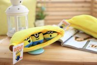 Wholesale Despicable Minion Banana - 1pcs 30cm Despicable Me 2 Stuffed Plush toy doll film anime Minions pea banana style cotton hold pillow baby kids gift