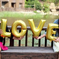 Wholesale Married Cake - 2015 New Wedding balloons LOVE marry Decorative letters aluminum balloons 40inch letters foil balloons wedding party decorations supplies