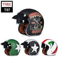 Wholesale Choppers Bike - Brand New Vintage helmet TORC retro motorcycle helmet for chopper bikes for Harley bikes motorcycle helmet