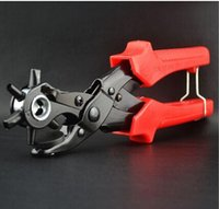 Wholesale Slip Joint Pliers Tools - FREE SHIPPING new 1sets hand tools punching forceps shoes eyes pliers grommet eyelet setting pliers 6 head Leather punch