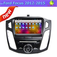 Wholesale 3g Transmitter - Quad Core 2 Din Car Dvd Players for Ford Focus 2015 with GPS FM Radio BT TV 3G OBD Mp3 Mp4 Andorid 4.4 System