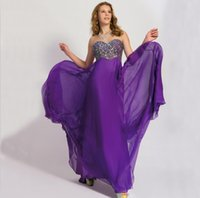 Purple Prom Kleider Crystal Sweetheart Empire A Line Open Zurück Sexy Plus Size Prom Kleider Royal Blue Günstige Abendkleid P11162
