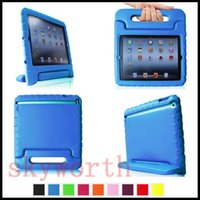 Wholesale Kid Cover For Galaxy - EVA kids Shockproof Handle Case Cover For ipad pro 9.7 air 2 3 4 6 mini Retina Samsung Galaxy tab A S