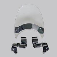 yamaha için ön cam ön cam toptan satış-Motosiklet Cam WindScreen Için 1985-2007 Yamaha Vmax 1200 VMX1200 V-Max VMX 95 96 97 98 01 02 03 04 05 06 07 Temizle
