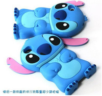 Wholesale I6 4s - 3D Stitch Soft Silicone gel phone Case For Iphone 8 7 I7 Iphone7 6S 6 Plus I6 4 4S 5 5S Cartoon Cute animal Rubber Shockproof Skin Cover