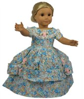 Wholesale Girl Party Dress Pattern Free - 2015 Party Princess Dress Doll Clothes for 18 Inch American Girl Doll,Beautiful Doll Dress with Flower Pattern Free Shipping