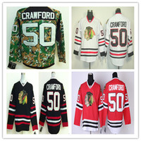 Wholesale Wholesale Sports Jerseys Authentic - Cheap Chicago Blackhawks Youth Men Women 50 corey crawford Best quality Authentic Ice hockey stitching Jerseys Sports Embroider jersey