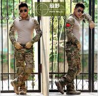 Wholesale Tactical Uniform Pant - Tactical army GEN 3 Battle Suit Shirt Pants Assault uniform US G.I Issue Frog Airsoft Trousers multicam Suit with knee pad