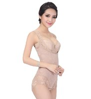 Wholesale Lady Bodysuits Lingerie - Wholesale-High quality fashion woman lady seamless slimming downsizing burning shapewear body sculpting corset underwear lingerie