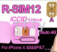 Wholesale Unlock Sim For Cdma - Christmas Rsim 12 r sim 12 RSIM12 unlock card v9.6 for iphone x 8 7 plus and i6 unlocked iOS 11 ios 11.x-7.x 4G CDMA GSM WCDMA SB AU SPRINT