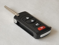 nissan x trail fernschlüssel großhandel-4 Tasten Auto geändert Flip Folding Remote Key Shell Fall Blank Keys Cover für Nissan Sylphy Tiida