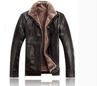 Wholesale Best Leather Jackets Sell - Fall-2015 best-selling European-style fertilizer to increase men's fur collar leather jacket for men