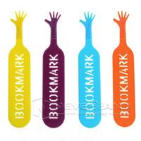 Wholesale Random Books - Free Shipping The BOOK MARK Help Me Novelty Bookmark Funny Bookworm Gift Stationery Random Color 1Set 4pcs C10