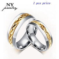 Wholesale Stone Rings Designs Men - Vintage wedding ring for women men 18k gold plated cutting flower design couple promise jewelry