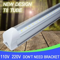 Wholesale Milky Tube - LED T8 integrated tube 10w 600mm 110v 220v 85-265v Transparent Clear cover milky cover free shipping 2ft white warmwhite SMD2835