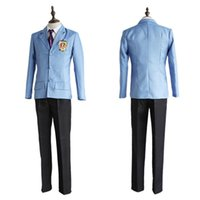 Wholesale Host Games - Japanese Anime Ouran High School Host Club Cosplay Costume Fujioka Haruhi Tamaki Suou School Uniform Full Set