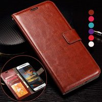 Wholesale Leather Case Nexus Frame - Retro Wallet PU Leather Case With Card Slots Photo Frame Slot Stand For Huawei P8 Lite Mate 7 Mate7 Honor Honor7 Nexus6P LG Nexus 5X 6P