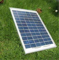 Wholesale Small Solar Panel System - 10W solar panel for 12V battery charging Polycrystalline Silicon , used for solar garden lighting, Small home lighting system