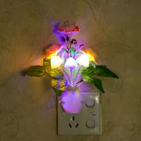 nachtlichtfarben großhandel-Granatapfel LED Dimming Nachtlicht 7 Farben Lichtsteuerung Home Wall Decor Geschenk ändern