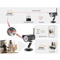 Wholesale Security Wlan - Wireless IP Camera Sricam Wifi H.264 Wireless WLAN Waterproof Night Vision CCTV Security IP Camera Black EU Free Shipping