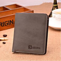 Wholesale Wholesale Purse Stylish - Wholesale-Free shipping 2015 new stylish Mens Genuine Leather Wallet Pockets RFID Card Clutch Cente Bifold Purse