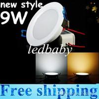 led-lampenchips großhandel-9W Dimmable Led Innenbeleuchtung Downlights Ultra Bright SMD Chip 600 Lumen Led Boden Led Panel Lights Einbauleuchte Warm / Cool White 110-240V