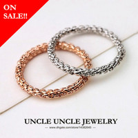 Simple Femme Knuckle Bague Rose Or Couleur Vis Fleur 2mm Lady Fashion Doigt Queue Anneau (Or / Argent)