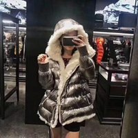 Wholesale Ribbed Dress - 2017 New Style Goose Down KERRIA Women Down Coat Fashion Silver Zippers Ladies Down Jacket M Brand Feather Dress Outerwears