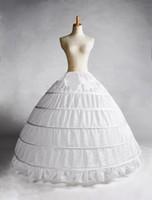 petticoats slips zum verkauf großhandel-2015 Weiß 5 Hoop Petticoat Crinoline Unterrock Brautkleid Brautkleid Heißer Verkauf Real Sample Braut Prinzessin Petticoat Unterrock Brautkleid