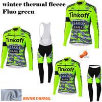 Wholesale Saxo Bank Sets - Ropa Ciclismo 2015 Tinkpff saxo bank winter Thermal Fleece Pro Cycling Jersey long sleeve bib kits MTB Bib long pants sets cycling clothing