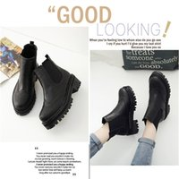 Winter Lady Flat Heel Botas curtas Martin Boots Calçados para mulheres Sapato Ankle Boot Flats Thick Heel Fast Shipping