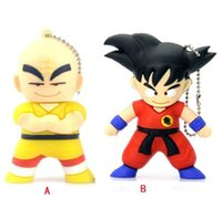 Wholesale dragon pen ball - Cartoon Goku 100% Real USB Flash Drives Dragon ball 4GB 8GB 16GB 2GB USB memory stick Pen + Box