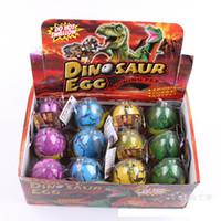 boîtes à oeufs easters achat en gros de-12 pcs / boîte Oeufs de dinosaure de grand oeuf de Pâques dinosaure variété d'oeuf de Pâques des animaux oeufs peut écloser des animaux créatifs jouets 6,5 * 5 cm