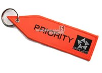 "Wholesale Alliances Rings - STAR ALLIANCE Key Chain with Orange Embroider "" PRIORITY "" Car Key RIng Best Gift for Flight Crew Aviation Lover Workers"