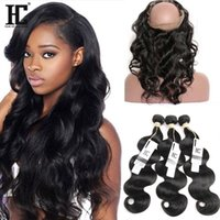 360 Lace Frontal Band Body Wave Natural Hairline с детскими волосами Virgin Brazilian Body Wave 3 Bundles With360 Lace Frontal Closure