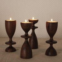 black walnut logs - Log beladesign original design black walnut mousse CANDLE HOLDER