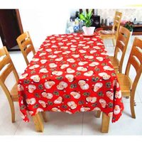 Wholesale Santa Claus Table - Santa Claus Table Cloth Christmas Party Decoration Polyster Dinning Table Cover Overlays Festive Decoration Online SD703