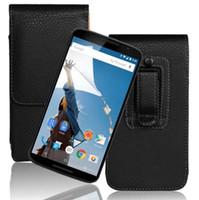 ceinture nexus achat en gros de-Cas de haute qualité pour Motorola Moto Nexus 6 PU Flip en cuir Protection Pouch Belt Clip cas de téléphone portable